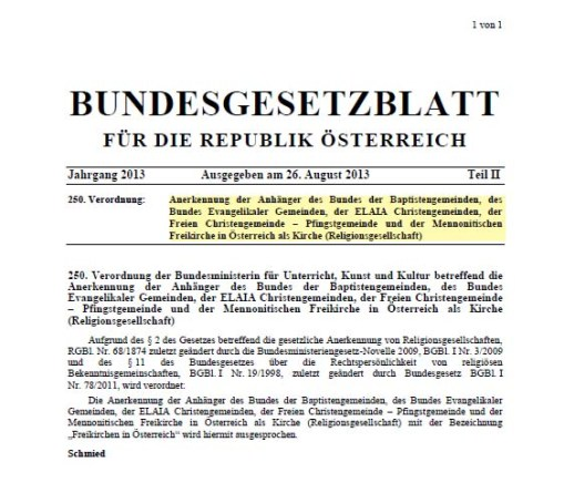 BGBL Freikirchen
